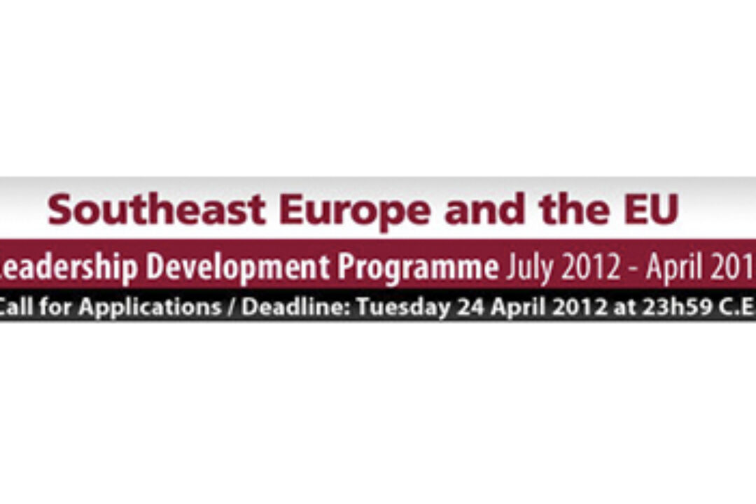 Southeast Europe and the EU – Leadership Development Programme